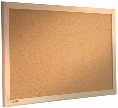 Cork Noticeboard Wooden Frame