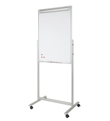 Double-sided mobile flipchart