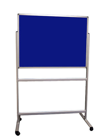 Double sided Blue Felt Fixed Mobile Noticeboard