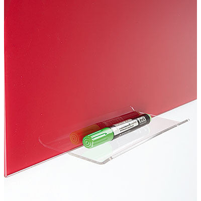 Glass board pen tray
