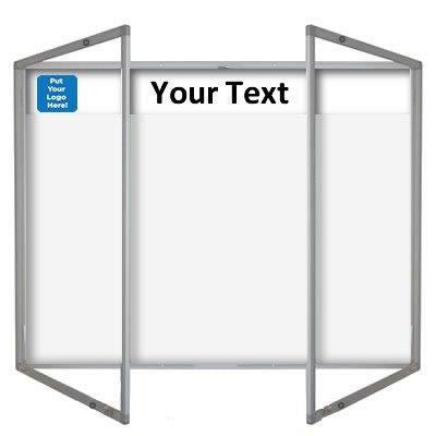 Magnetic Tamperproof Whiteboard Aluminium Frame and Printed Header Panel