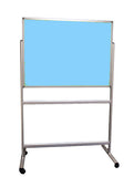 Fixed Mobile Double-sided Fabric Noticeboard Camira Lucia