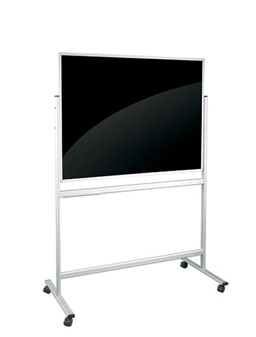 Black Mobile Glassboard Fixed Frame