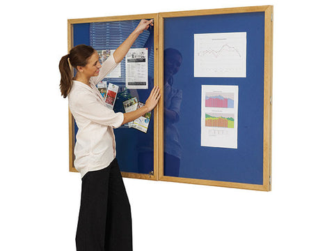 Double Door Oxford Blue Oak Frame