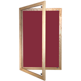 Tamperproof Lockable Noticeboard Wooden Frame Corded Hessian
