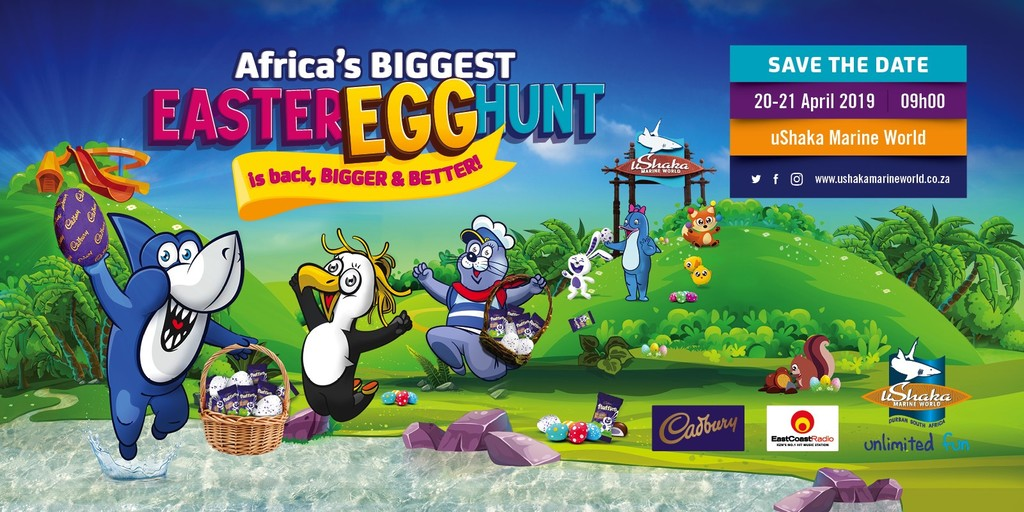 Save the date for Africa's largest Easter Egg Hunt only at uShaka!