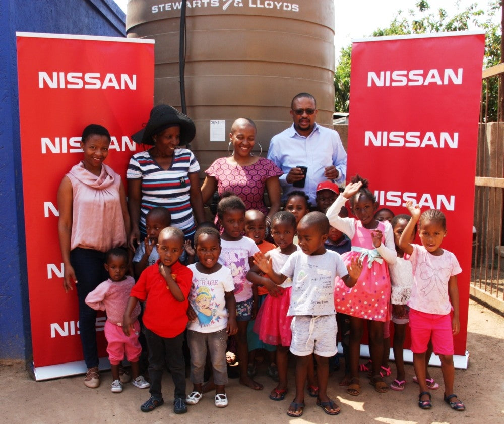Nissan provides an essential resource for a children's day care centre in Pretoria