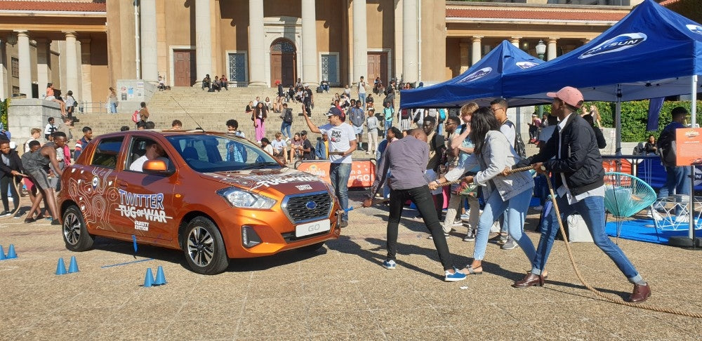 Datsun brings the Twitter Tug of War to your university!