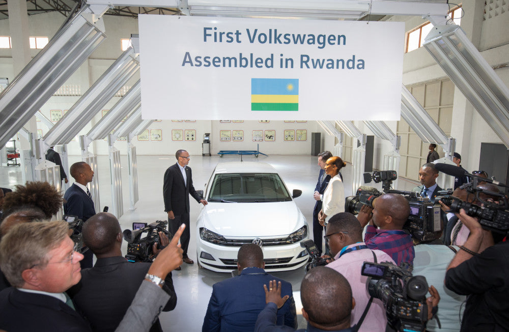 Milestone in Africa: Volkswagen launches local assembly and Car sharing in Rwanda