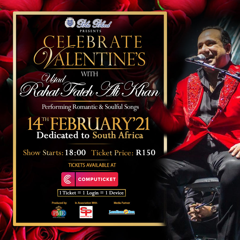 WIN Tickets to Watch Ustad Rahat Fateh Ali Khan