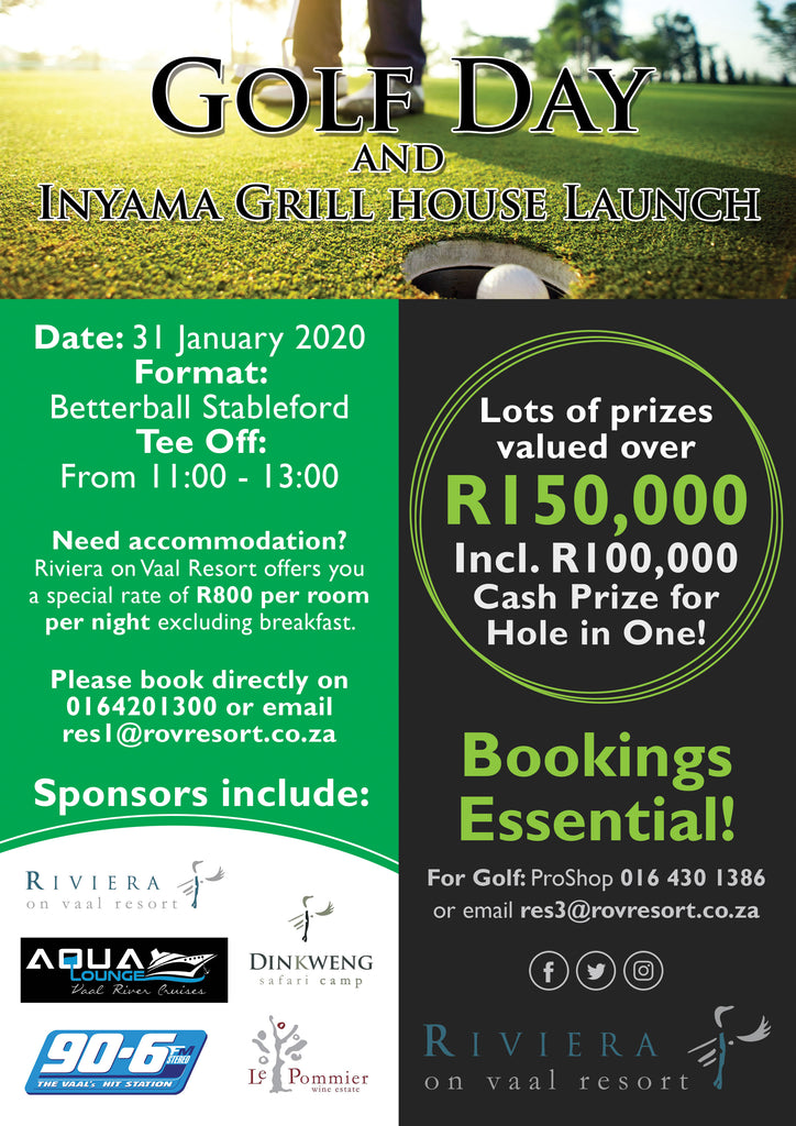 Riviera on Vaal Resort hosts exciting Golf Day to celebrate the revamp of their Country Club and Inyama Grill House
