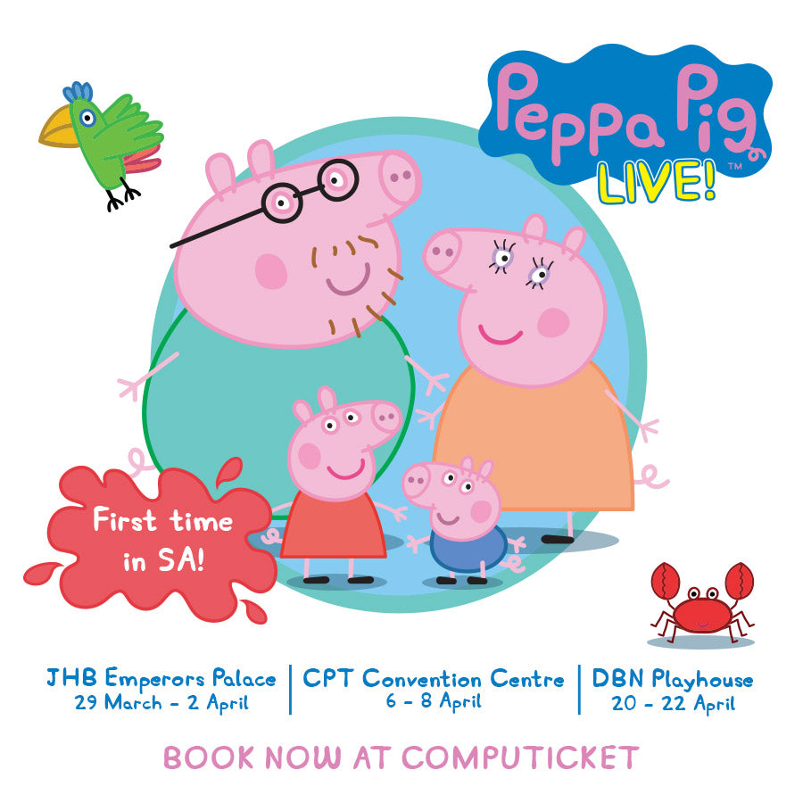 Kiddies entertainment phenomenon Peppa Pig Live in SA to
