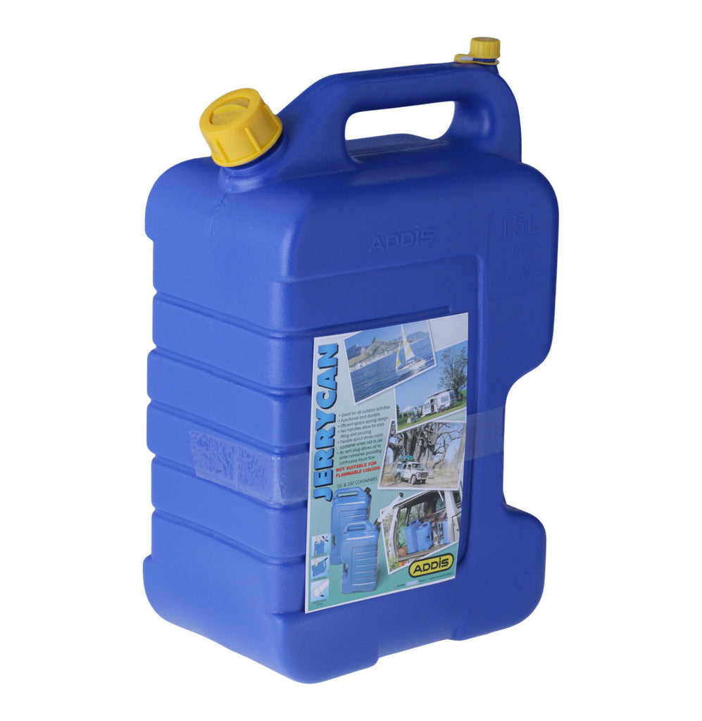 Addis - 15L Plastic Water Jerry Can