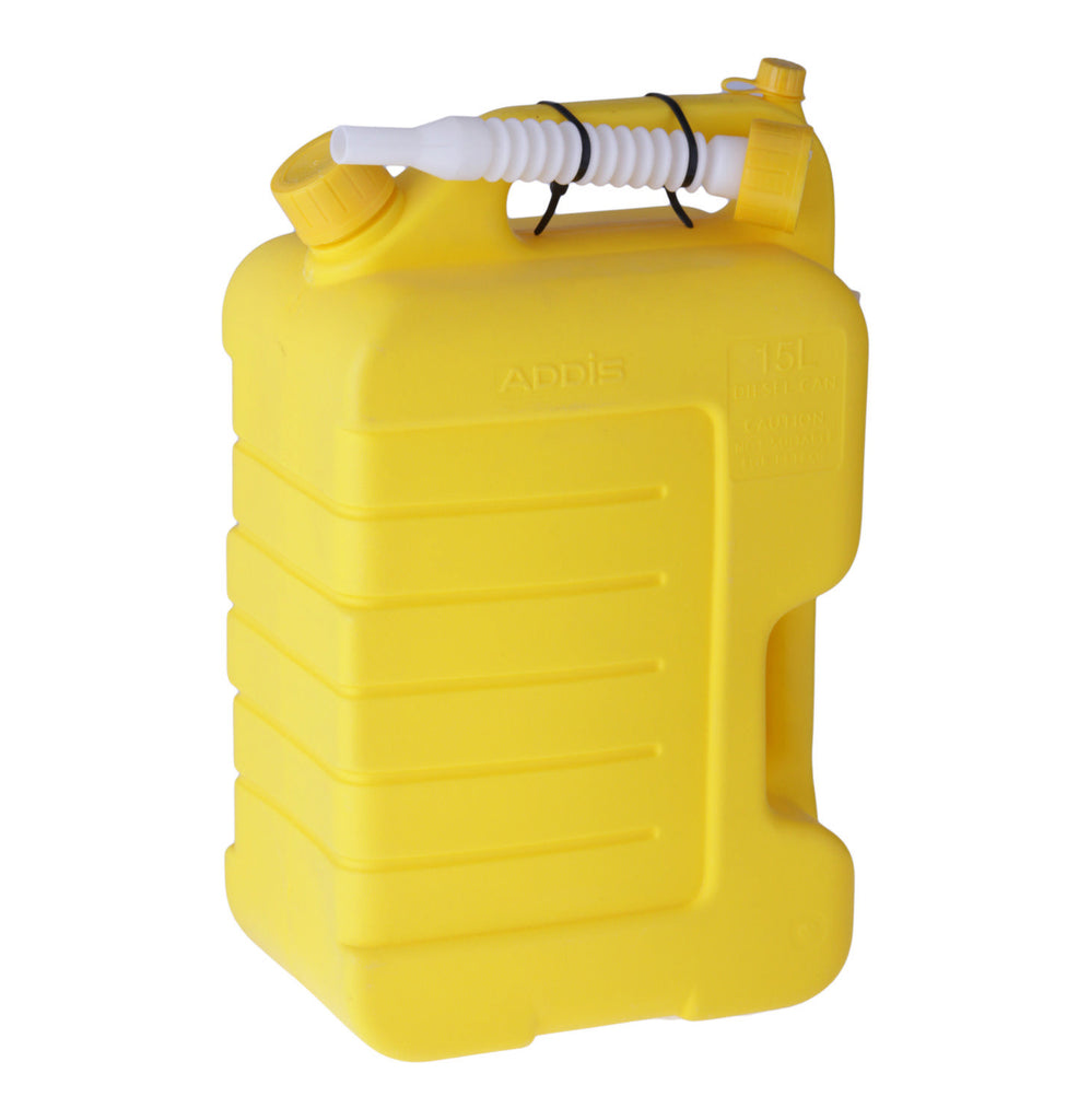 Addis - 15l Plastic Diesel Jerry Can
