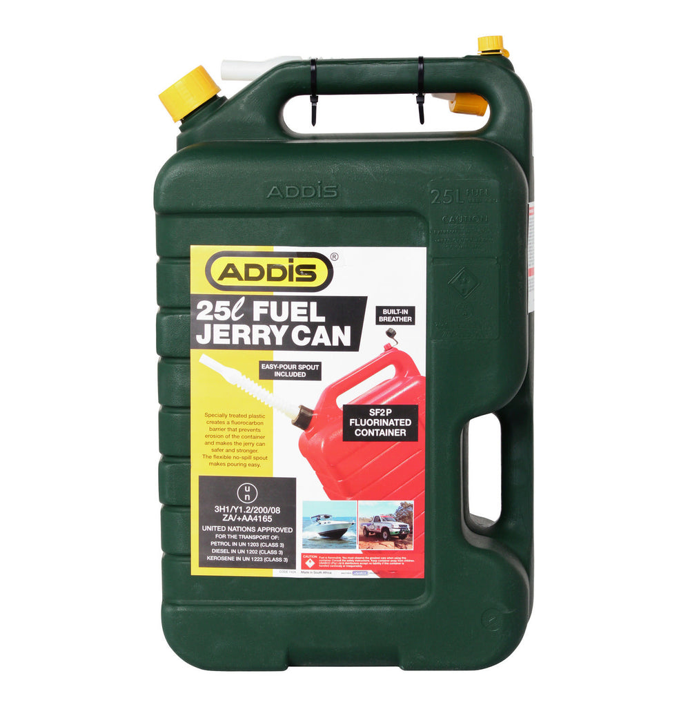 Addis - 25l Fuel Jerry Can (Green)