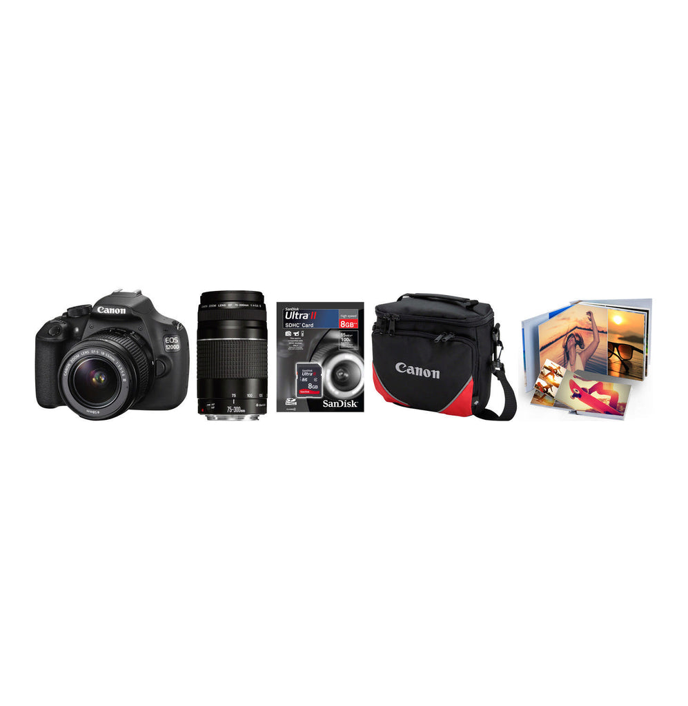 Canon - 1200D DSLR Twin Lens Camera Bundle - iloveza.com