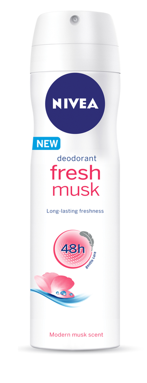 NIVEA Fresh Musk Deodorant Spray (1 x 150ML) - iloveza.com