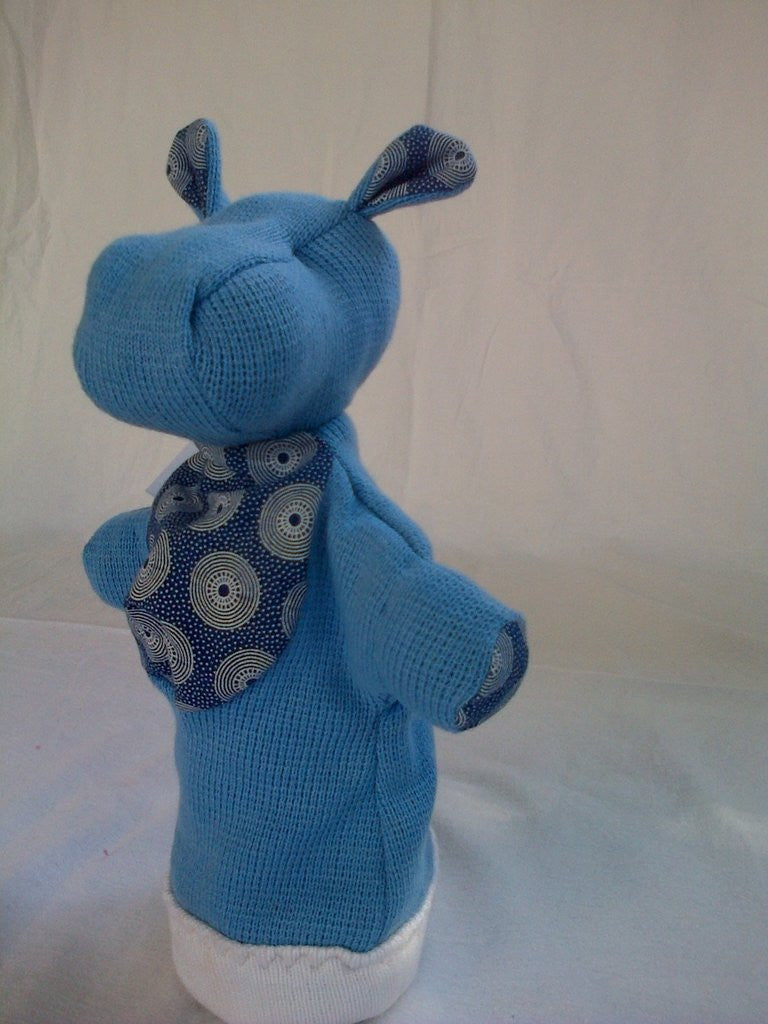 SA Softies - Hippo Puppet (Blue)