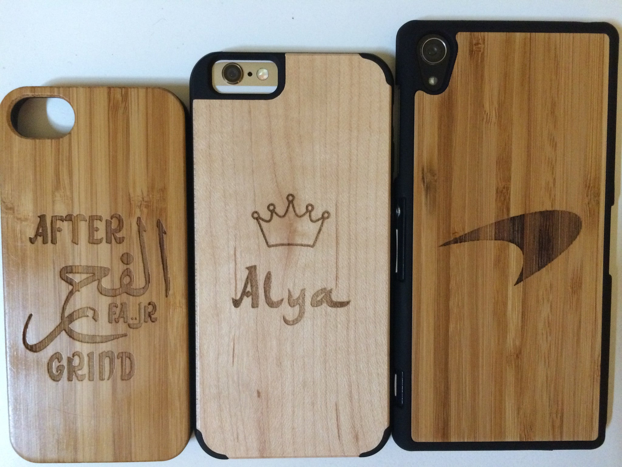 Fair Apparel - Customised Wooden Bamboo Phone Covers - iloveza.com - 1