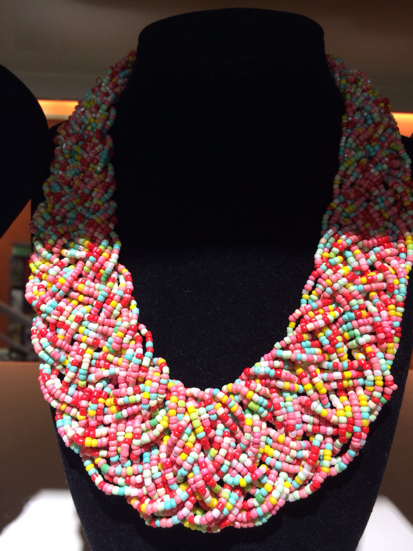 African Beaded Necklace (Multi-Coloured) - iloveza.com - 1