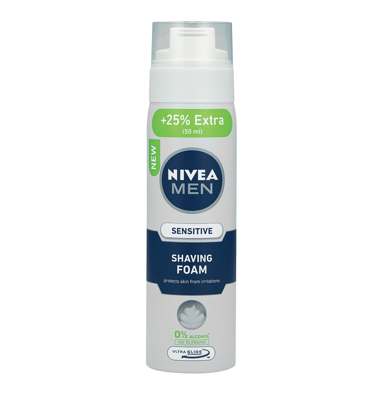 NIVEA Shaving Foam Sensitive 25% Extra (1 x 250ml) - iloveza.com