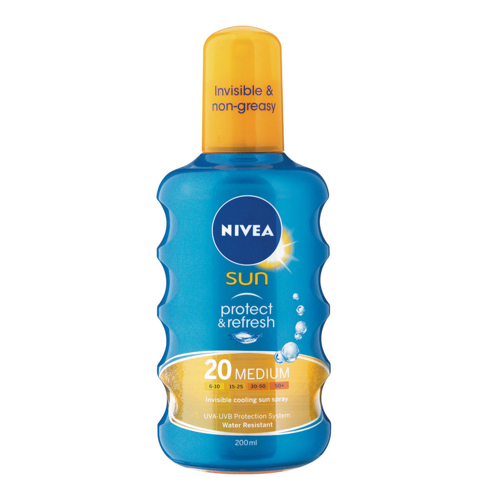 NIVEA Sun Invisble Spray SPF20 (1 x 200ml) - iloveza.com