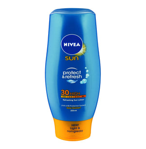 NIVEA Sun Refreshing Sun Lotion SPF30 (1 x 200ml) - iloveza.com