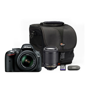 Nikon - D5200 DSLR Twin Lens Camera Bundle - iloveza.com