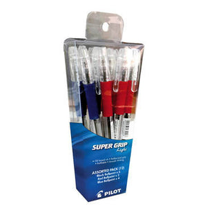 Pilot - Super Grip Ballpoint Pen 12 Pack Assorted - iloveza.com