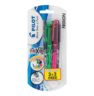 Pilot - Frixion Ballpoint Pen Assorted 3 pack (Green, Pink, Black) - iloveza.com