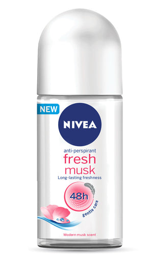 NIVEA Fresh Musk Deodorant Roll-on (1 x 50ML) - iloveza.com