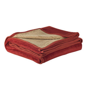 Sesli - Reversible Blanket (Camel and Rust) - iloveza.com