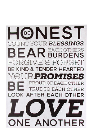 Wall Canvas - Be Honest - iloveza.com