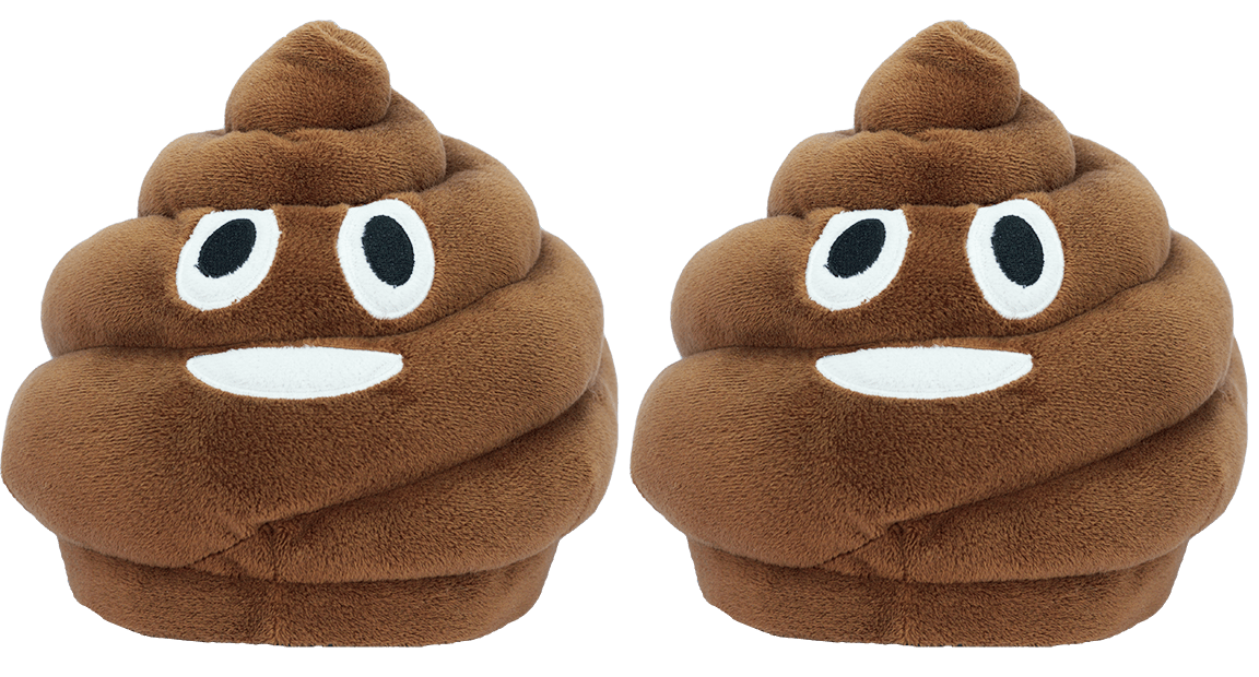Emoji Slippers - Smiley Poo - iloveza.com - 1