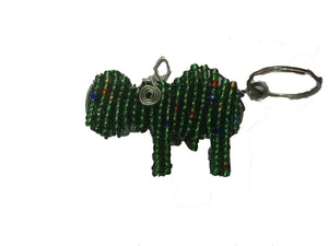 African Beaded Key Ring (Hippo) - iloveza.com