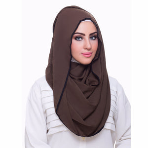 Pearl Daisy - Juniper Bordered Weightless Hi-Lo Hoojab - iloveza.com - 1