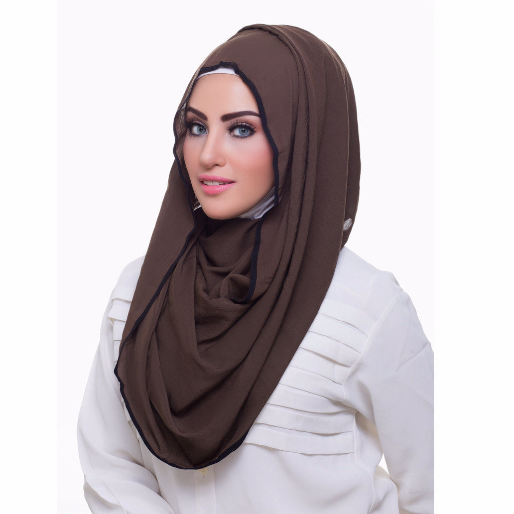 Pearl Daisy - Juniper Bordered Weightless Hi-Lo Hoojab - iloveza.com - 2