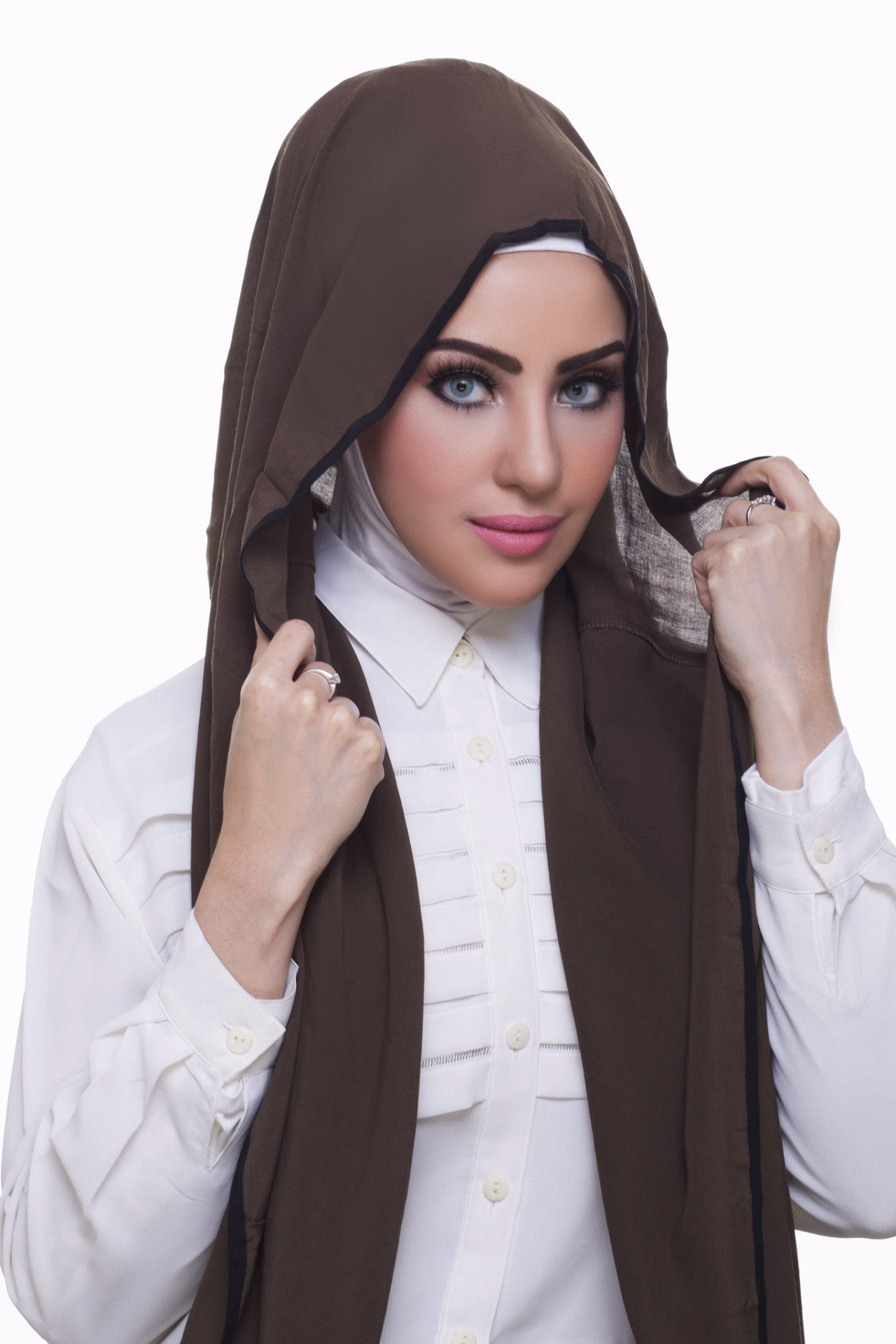 Pearl Daisy - Juniper Bordered Weightless Hi-Lo Hoojab - iloveza.com - 3