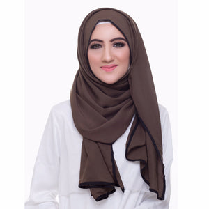 Pearl Daisy - Juniper Bordered Weightless Large Hijab - iloveza.com - 1