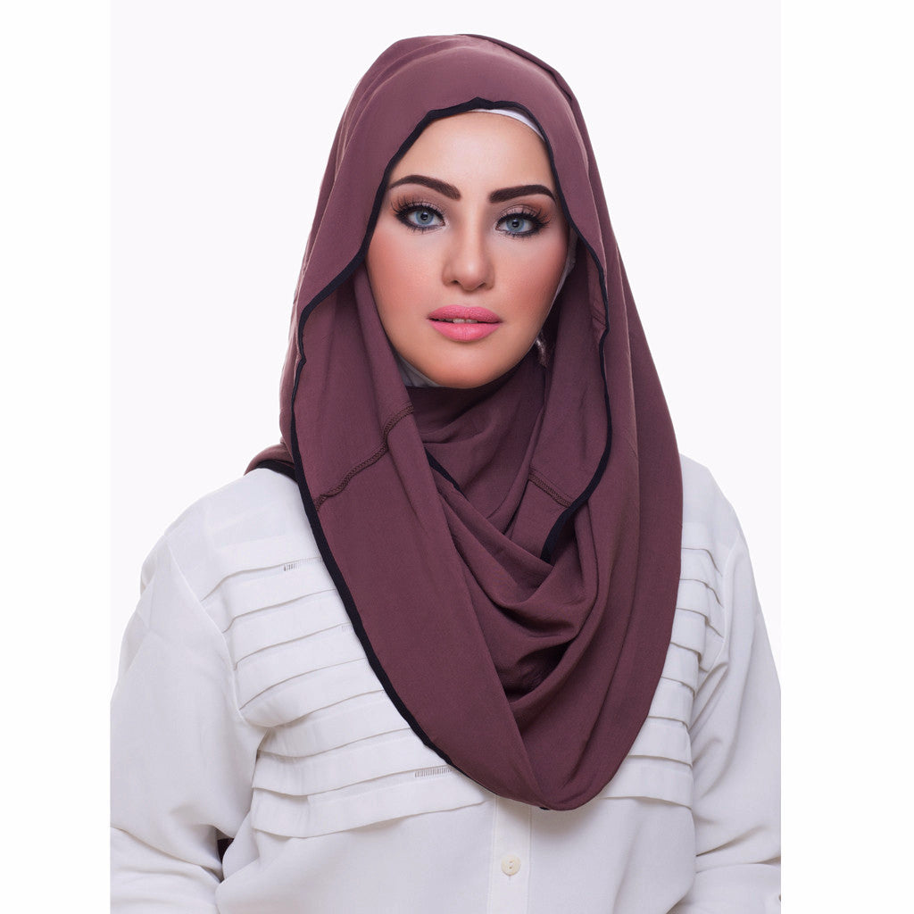 Pearl Daisy - Sandalwood Bordered Weightless Hi-Lo Hoojab - iloveza.com - 1