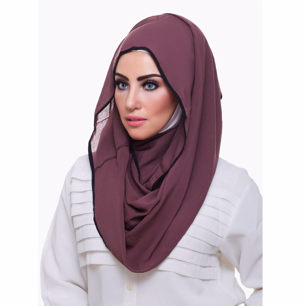 Pearl Daisy - Sandalwood Bordered Weightless Hi-Lo Hoojab - iloveza.com - 2