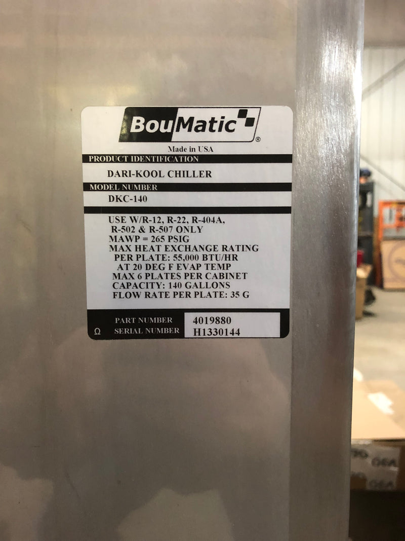 Listing #DD1580 - Boumatic Chiller System