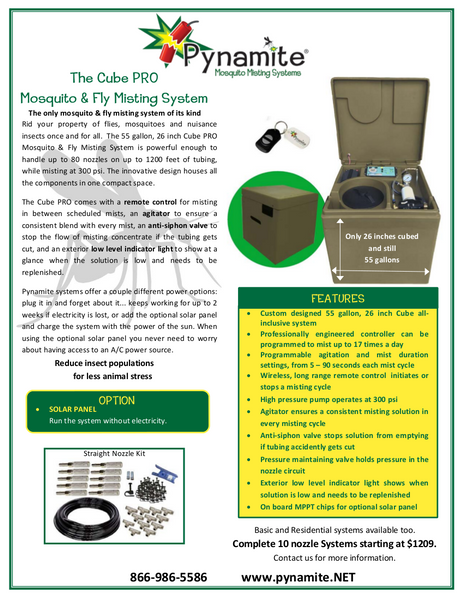Listing #DD1151 - Mosquito and Fly Misting System
