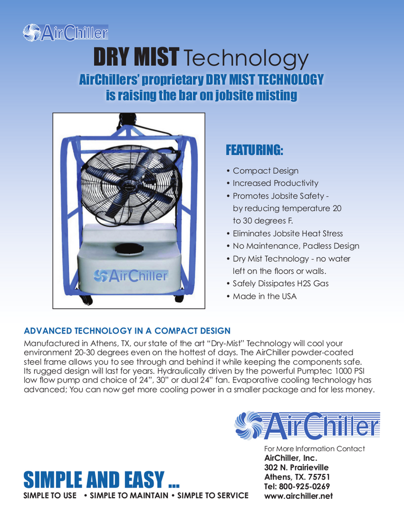 Listing #DD1152 - Air Chiller