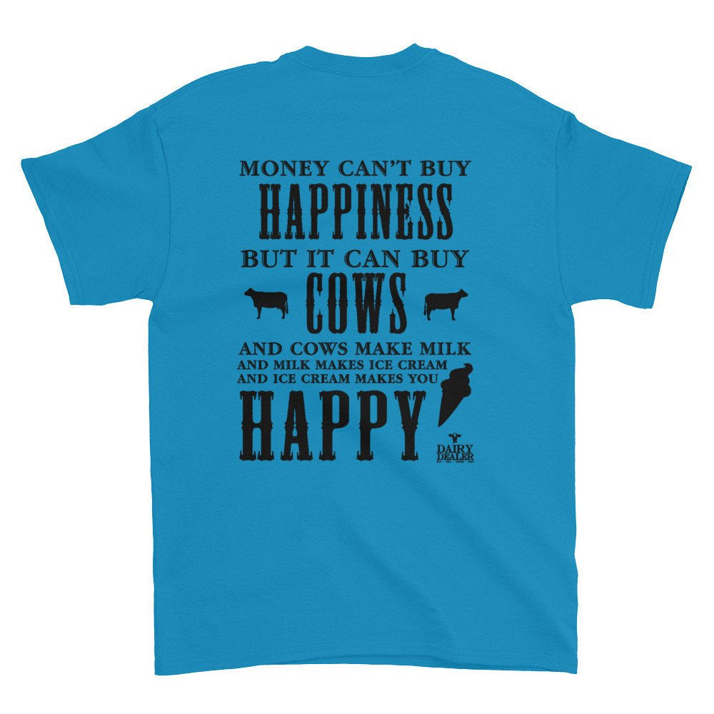 Happiness, Cows and Ice Cream Short Sleeve Shirt (Unisex)