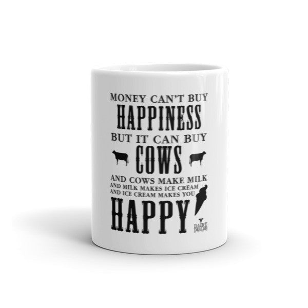 Happiness, Cows and Ice Cream Long Sleeve Shirts (Unisex)