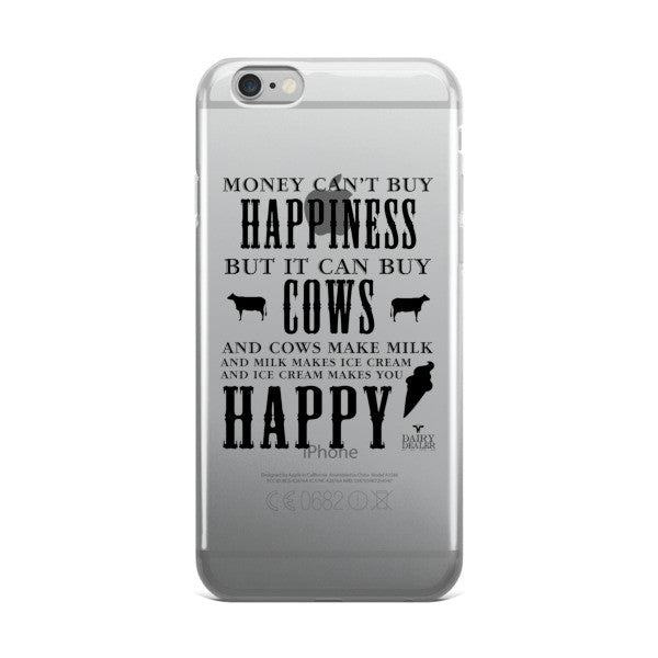 Happiness, Cows, and Ice Cream IPhone Case