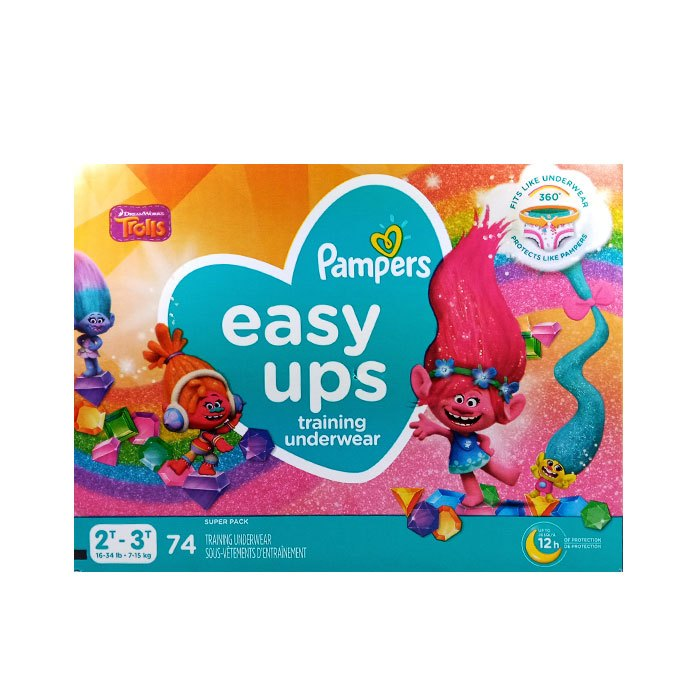 Pampers Easy Up Girl 2T-3T 74 Count