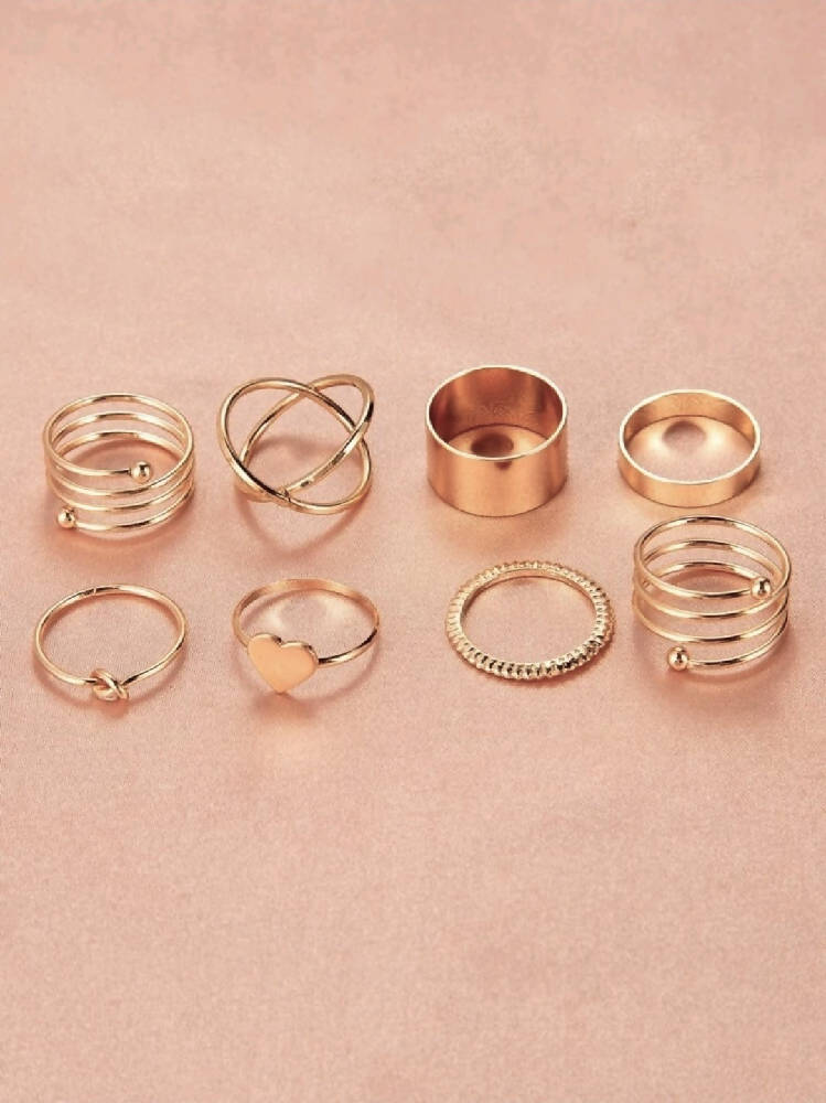 Stella Heart Ring Set