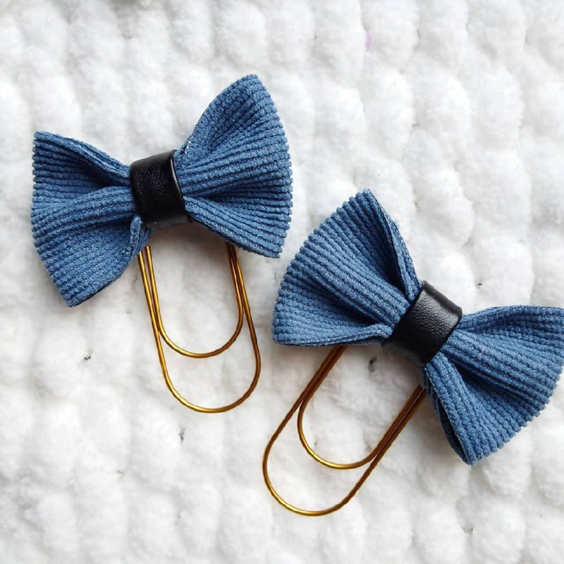 Denim Bow Paperclip